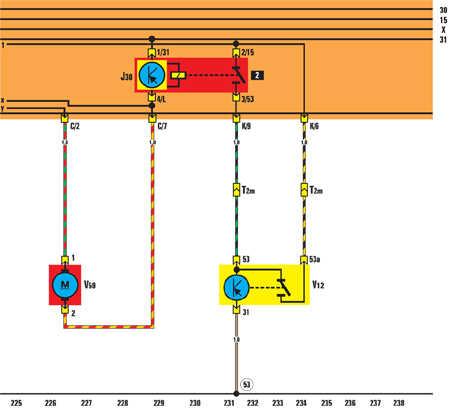 электрическая схема фольксваген гольф 2